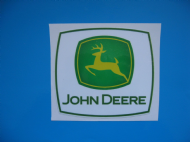 John Deere Square Sticker/Decals x 2